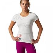 Reebok Damen CrossFit Trainingsshirt Burnout SS Chalk XL