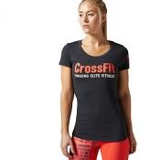 Reebok Damen T-Shirt CrossFit Graphic Crew FE black M