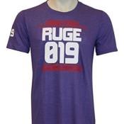AMRAP Athlete Shirt - Individuell für dein CrossFit - WOD hergestellt, Slim-Fit aus Tri-Blend Material für Herren (Violett, M)