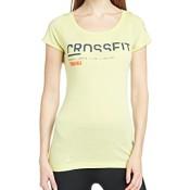 Reebok Damen kurzärmliges Shirt Cross Fit Santa Cruz, Chartreuse, M, Z89045