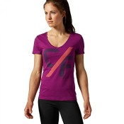 Reebok Damen T-Shirt CrossFit Elevated Fierce Fuchsia XL