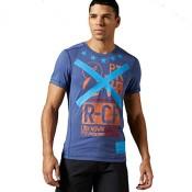 Reebok Herren T-Shirt CrossFit Blend T v2 midblu M